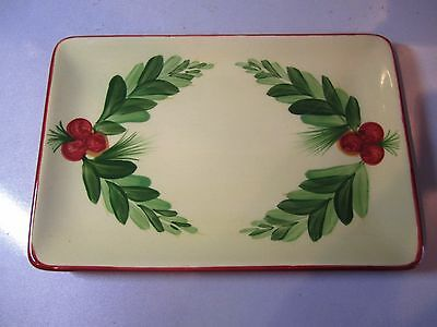 "Southern Living At Home ~ Gail Pittman 8"" Christmas Memories Appetizer Plate"