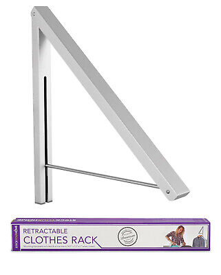 Stock Your Home Retractable Clothing Rack