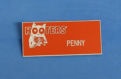 Hooters Restaurant Girls Penny Orange Name Tag (Waitress Pin)