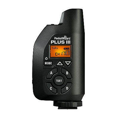 NEW!!!  PocketWizard Plus III Transceiver Pocket Wizard (FCC/US: 340 to 354 MHz)