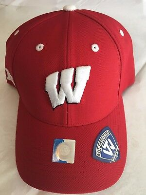 new styles f78f9 91a34 Wisconsin Badgers BIG Ten Baseball Hat - Adult Top of the World Cap - NWT
