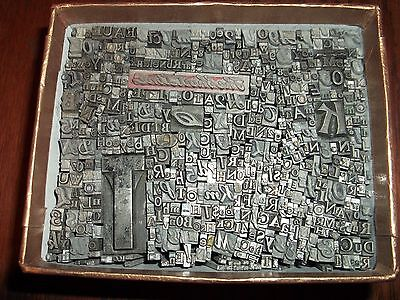Lg LOT 550+ PIECES OF LETTERPRESS PRINTERS TYPE LETTERS NUMBERS LEAD BLOCKS No21