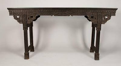 Gorgeous Chinese Hand made Zitan Wood Painting table 66 inches.