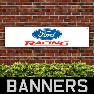 Ford Racing Red PVC Banner Garage Workshop Sign (BANPN00037)