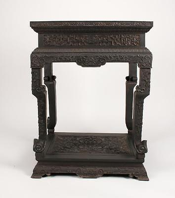 Gorgeous Antique Chinese Zitan Side Table/  Vase Stand 34.5  inches