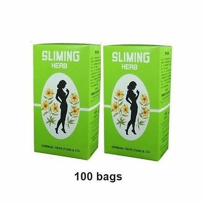 100 Bags Slimming German Herb Tea-Burn-Diet-Slim-Fit-Laxative-Detox