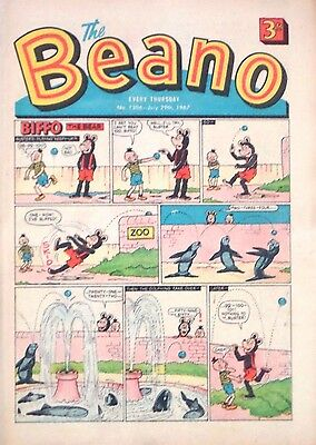 THE BEANO - 29th JULY 1967 (27 July - 2 August) RARE 50th BIRTHDAY GIFT !! FINE