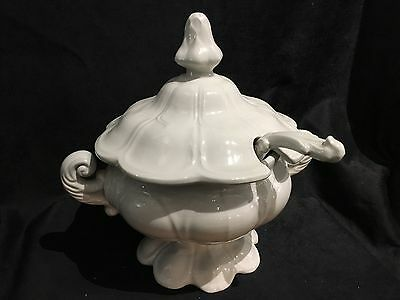 Vintage Red Cliff Iron Stone Double Handled Soup Tureen  w/ Lid & Ladle