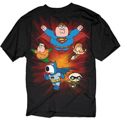 Family Guy DC Comics Spoof Super Crew Men's T-Shirt, XXX-Large