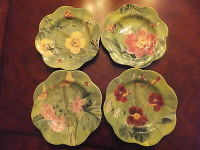 Spode Floral Haven Canapé Plates Set of 4