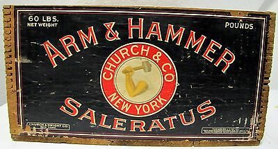 Antique Arm & Hammer Saleratus Wood Box/Crate Church & Dwight Co. N.Y. EUC NICE!