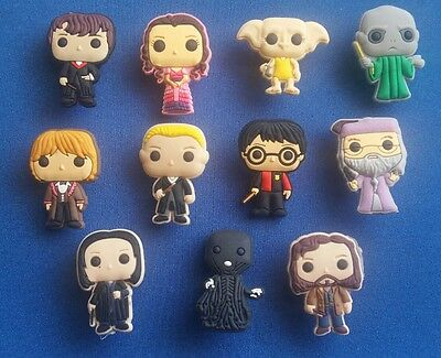 11 Pc Harry Potter Movies Jibbitz Shoe Charms Cake Toppers Party Favors Bands