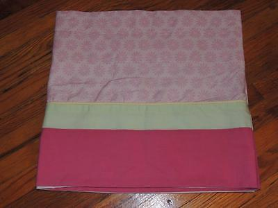 """Kidsline Pink Green Yellow Valance Daisy Floral Top 13.5"""" X 60"""""""