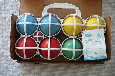 Vintage Sportcraft Youth Bocce Ball Set W/ Original Box Made In France BOWLING