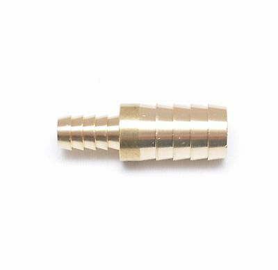 5/8 Hose ID  x 3/8 Hose ID Barb Reducer Tube Splicer Joiner Union Brass Fitting