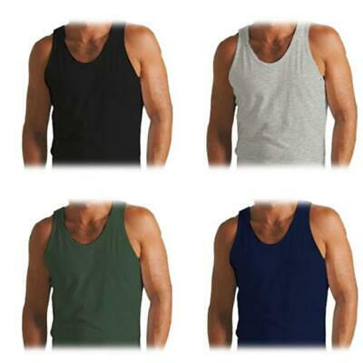 New Mens Vests Basic Jersey Regular Fit 100% Cotton Tank Gym Running Top