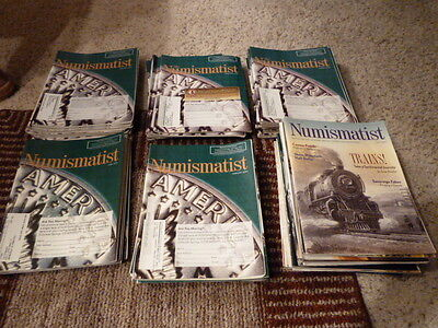 Lot of Numismatist Magazine 71 Issues 2003 to 2009 Harder to find Back Issues!