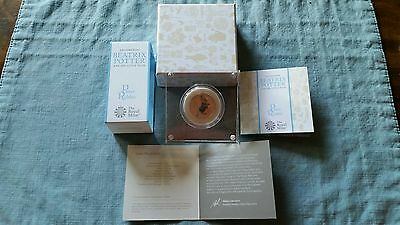 2017 Beatrix Potter Peter Rabbit 50p Pence silver PROOF coin