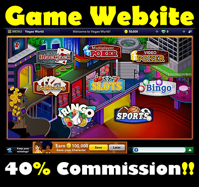 Website - Vegas Games - Online Business - Internet Affiliate - Money - For Sale