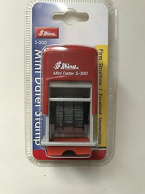 Shiny S-300 Self-Inking Mini Date Stamp (up to 2025) Red ink FREE POSTAGE