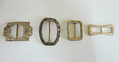Four Vintage Belt Buckles - Gold in Colour