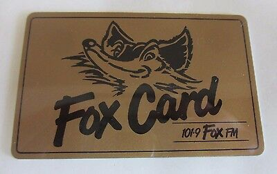 Fox FM - Fox Membership Card - Radio Station - Australia - 1990s