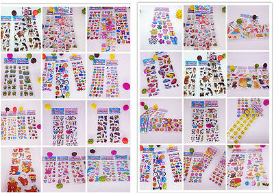 3D Cartoon Early Learning Bubble Funny Stickers Lot  Kids' Crafts toys Xmas gift