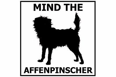Mind the Affenpinscher - Gate/Door Ceramic Tile Sign