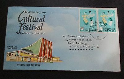 Singapore ..1963 Cultural Festival  First Day Cover