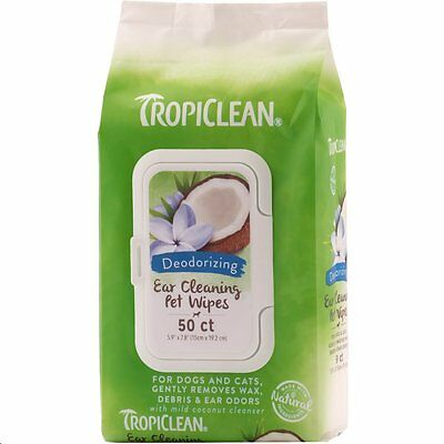Tropiclean Ear Cleaning Wipes ~ Brilliant! ~Remove Wax, Debris & Odour~Dog & Cat