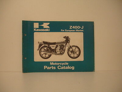 KAWASAKI Z400-J 1980 parts list catalogue pièces détachées parts catalog