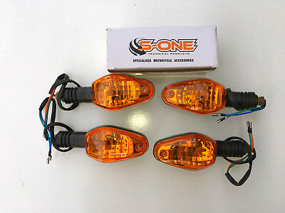 SUZUKI  GSX1400 BIKE INDICATORS BLACK BODY x 4 FULL SET BULB  TYPE