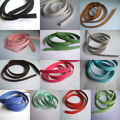 10mm Flat Faux Suede Leather Cord Craft Lace Jewelry Rope String Necklace 96cm