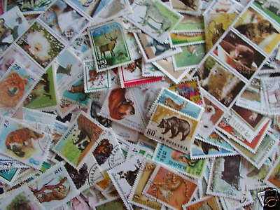 ********timbres Animaux : 2000 Timbres Tous Differents / Animal Stamps  *******
