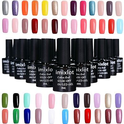 8 ML imixlot Vernis à Ongles Gel Polish Nails UV LED Semi Permanent Manucure