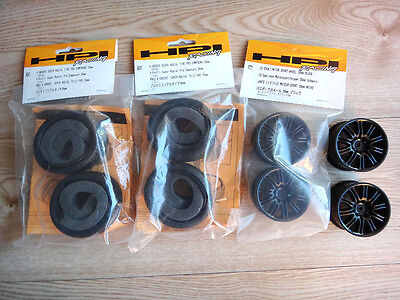 HPI Tyre and 10 Spoke Black Wheel Set for 1/10 Scale RC Cars