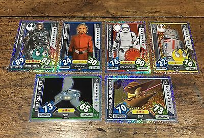 Star Wars - Force Attax 2017 (TOPPS collector cards) 6 x Hologram Foil Inserts
