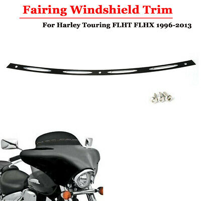 Black Fairing Windshield Trim For Harley Touring FLHT FLHX 1996-2013