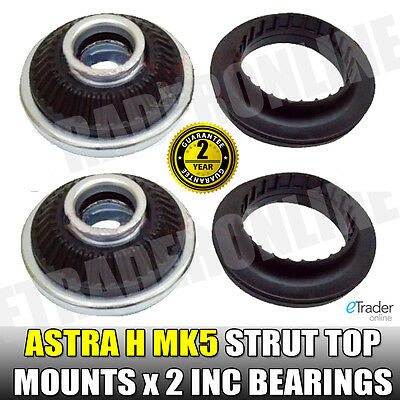 Vauxhall Astra H MK5 Front Suspension Strut Top Mounts & Bearings PAIR Mount X 2