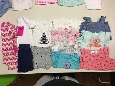 bulk 00 girls baby clothing 3-6 months