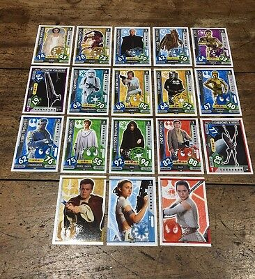 Star Wars - Force Attax 2017 (TOPPS collector cards) 18 x Cards Mixed Lot #19.
