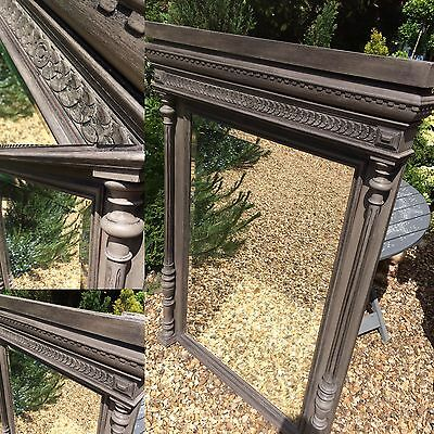Painted Oak  Henri II Style Antique French Mirror