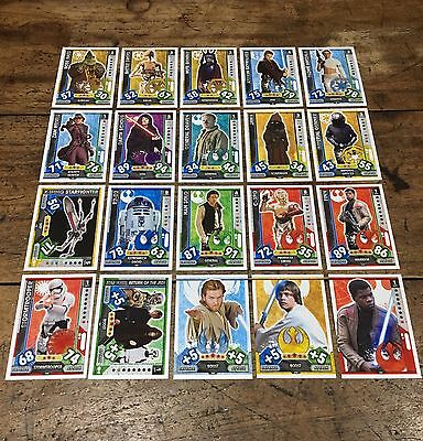 Star Wars - Force Attax 2017 (TOPPS collector cards) 20 x Cards Mixed Lot #16.