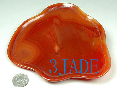 Carnelian / Red Agate Carving: Fruit Plate