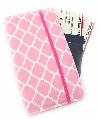 Travel Wallet, Passport Wallet, Travel Organiser, Travel Gift - Pink Diamonds
