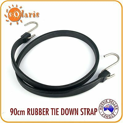 1x Heavy Duty Stretch Rubber Tie Down bungee Strap with Stainless Steel S Hooks
