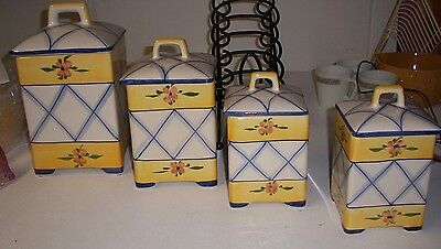 Set of 4 Jay Willfred by Andrea Sadek- Kitchen Storage Canisters