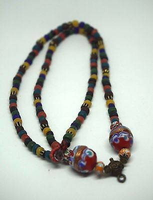 Vintage Tarawadee Necklack Old Stone Beads collectible handmade