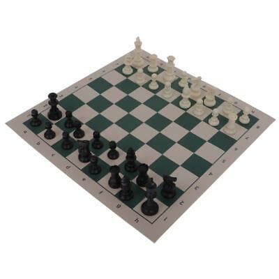 Traditional Roll Up Mat CHESS BOARD GAME Set 32 Pcs Fun Party Favor Small