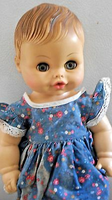 "Vintage Horsman Vinyl Or Rubber Baby Doll -13""- Blue Sleep Eyes"